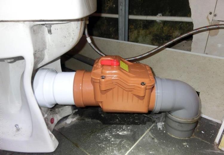 Как сделать обратный клапан для канализации