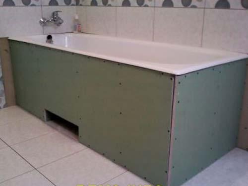 Экран под ванну с вырезом под ноги